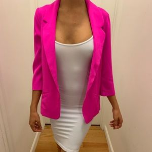 NWT Skies Are Blue size XS hot pink blazer